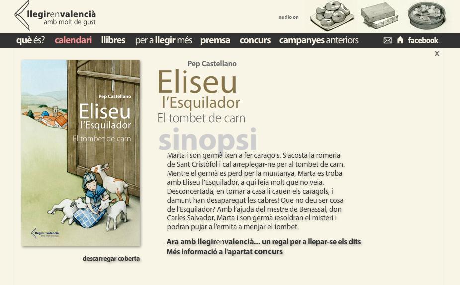 """El dia 8 de juliol el periòdic Levante lliura per 1€ el conte """"Eliseu l'esquilador"""", de Pep Castellano"""