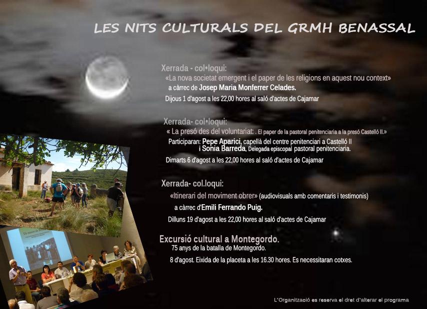 Les nits culturals del Grup de Recerca de la Memòria Històrica de Benassal
